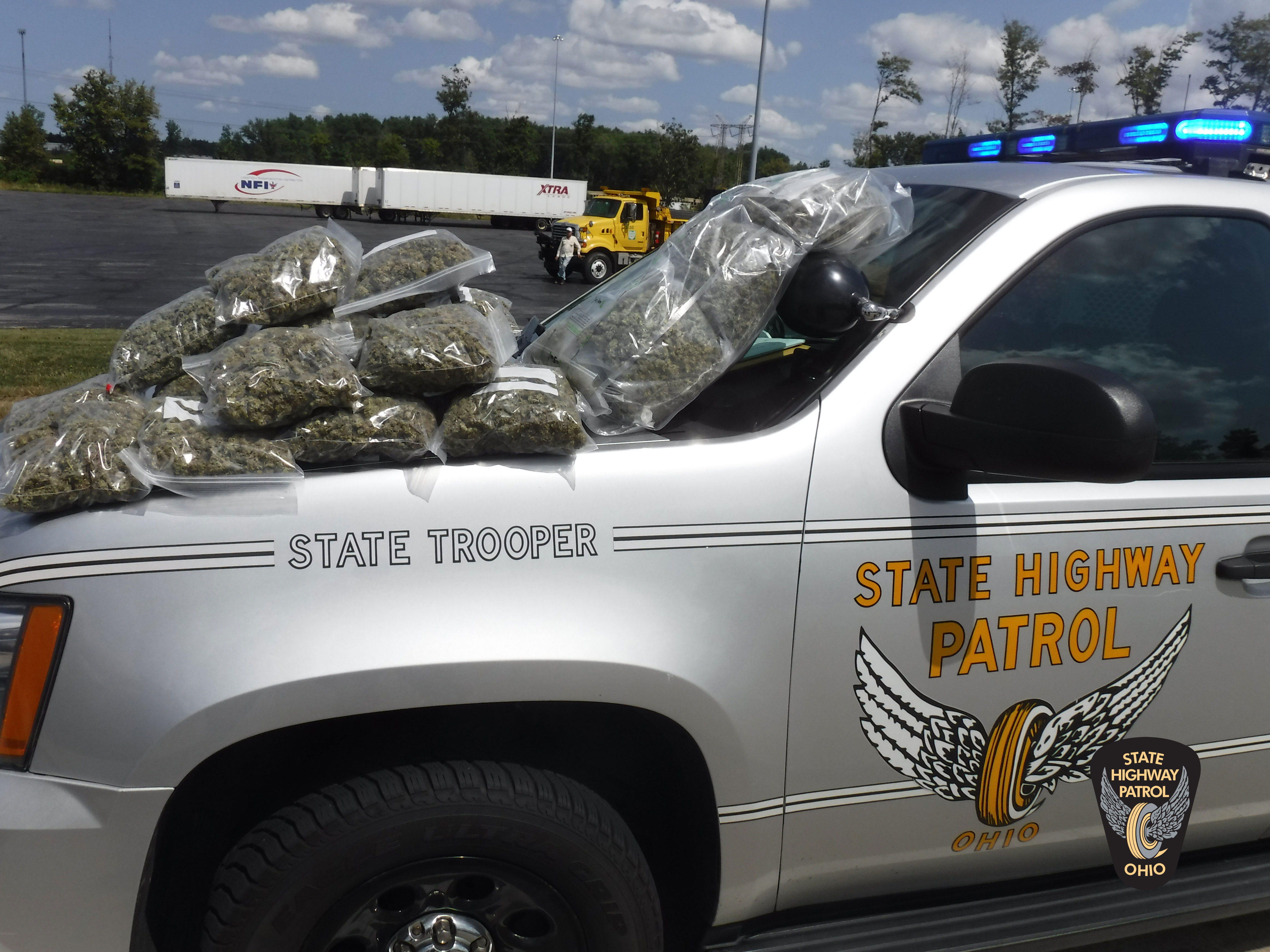 On august 25 2017 troopers stopped a 2001 chevrolet impala with ohio registration for a turn signal violation on the ohio turnpike in summit county